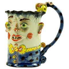 Rare Figural Porcelain Mug by Irina Zaytceva