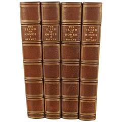Homer's Illiad Limited Edition in Four Volume Leather Bound Set