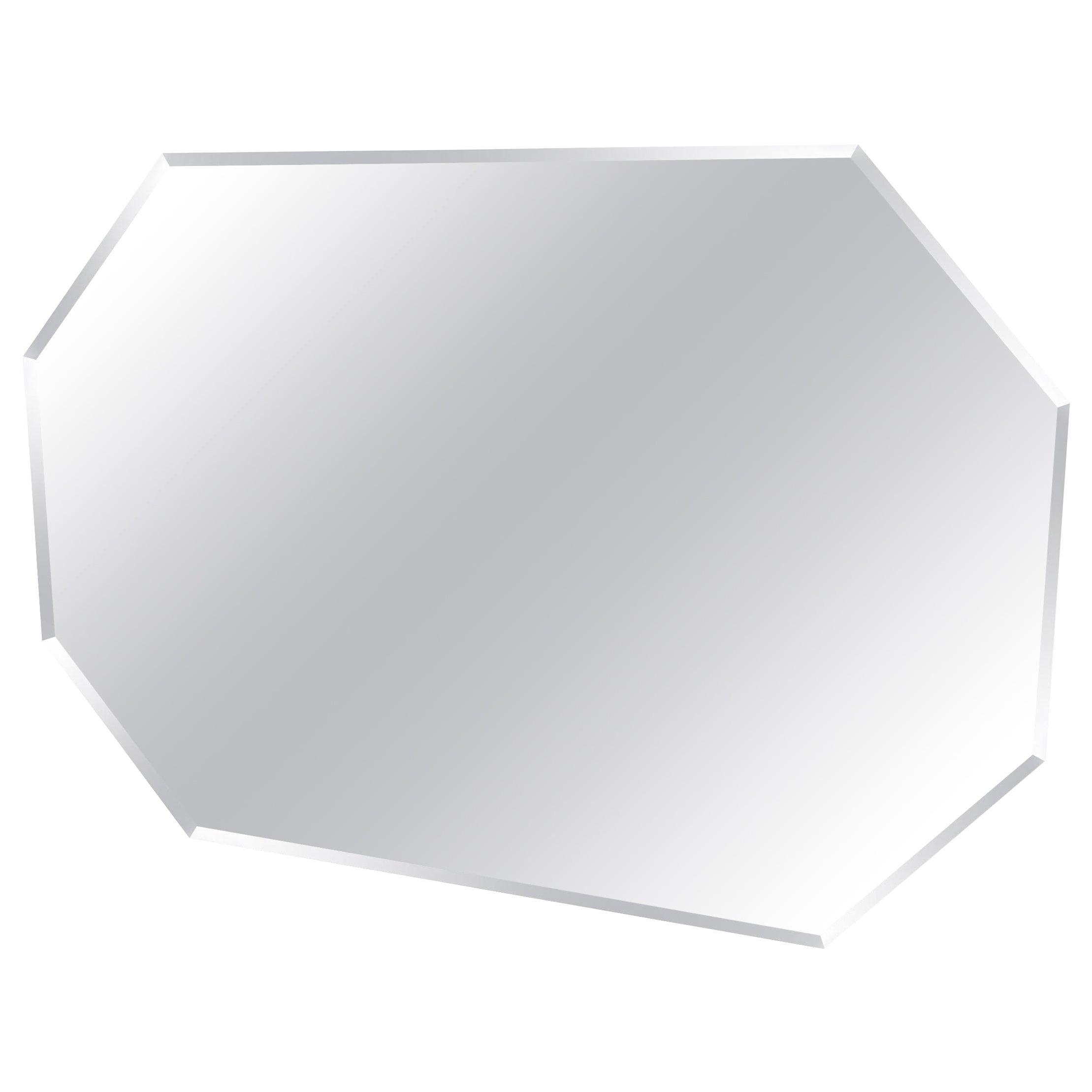 Mid-Century Modern Geometric Octagon Beveled Wall Mirror