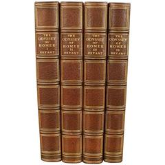 Homer's Odyssey Limited Edition in Four Volume Leather Bound Set