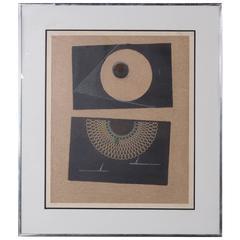 """Max Ernst """"Veilleuse Au Seuil De Nos Terrassements"""", 1968"""