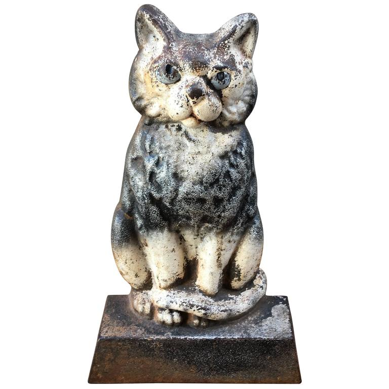 Cast iron cat doorstop at 1stdibs - Cast iron cat doorstop ...
