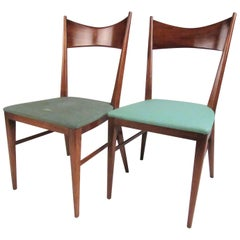 Pair Vintage Modern Paul McCobb Dining Chairs