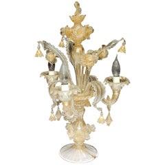 1950-1970, Clandestic Murano Cristal and Gold Inclusion