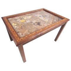Vintage Modern Butterfly Wing Mosaic Decorator's Table