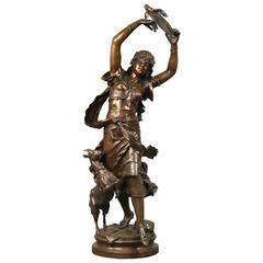 Large and Fine Late 19th Century Bronze Group by Auguste Moreau