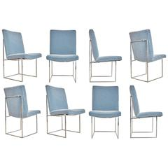 Milo Baughman 1187 Dining or Side Chairs, Set of Six, circa 1970