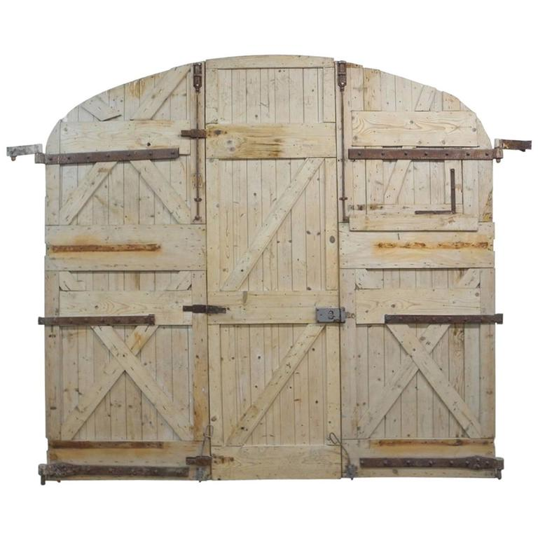 Large 19th Century Wooden Gates from France 1