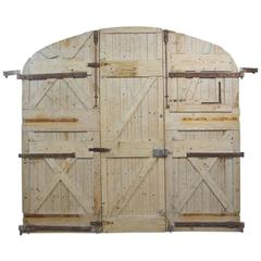 Large 19th Century Wooden Gates from France