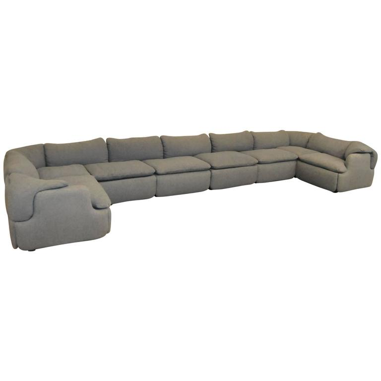 Confidential Sectional Sofa by Alberto Rosselli for Saporiti Italia