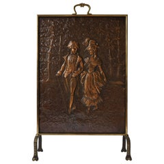 Copper Firescreen