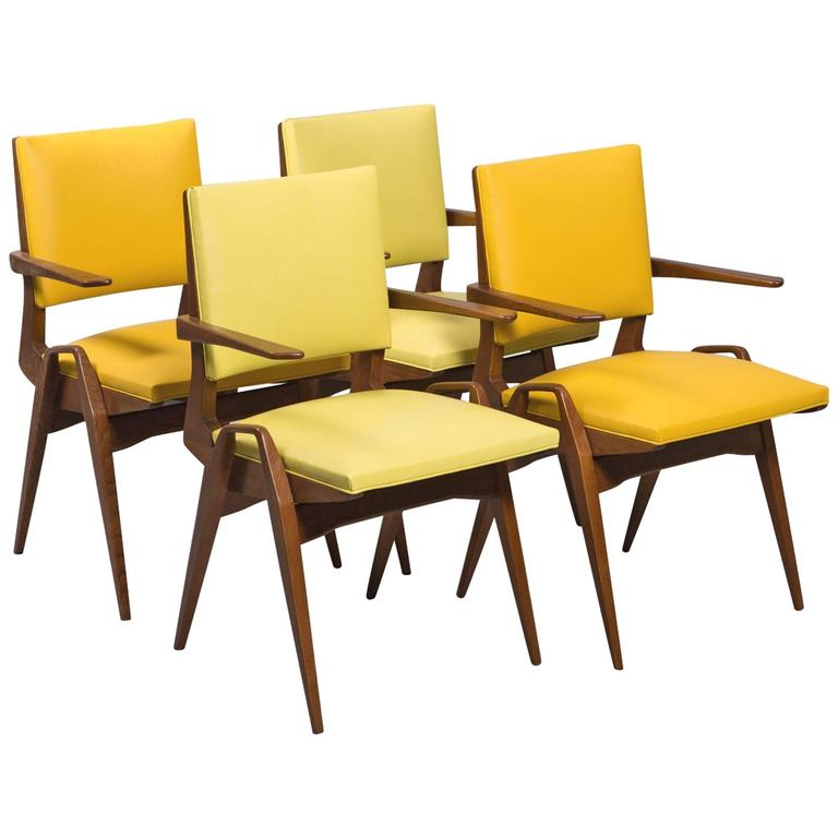 French Mid-Century Armchairs For Sale