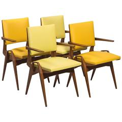 French Mid-Century Armchairs