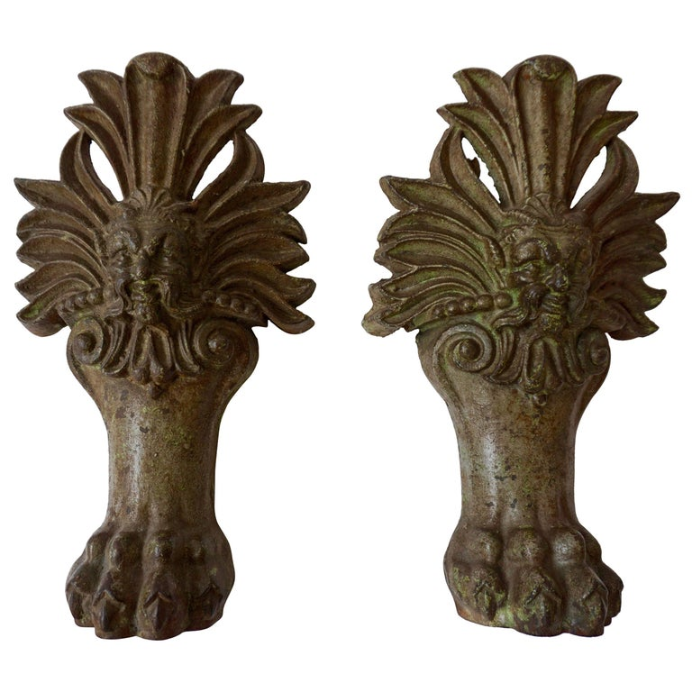 Pair of Wall Lights with Lion Claws For Sale