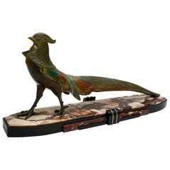Art Deco Bird Sculpture Signed by Dalbret