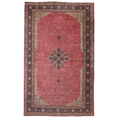 Antique Turkish Sivas Palace Size Rug with Romantic Rococo and Art Nouveau Style