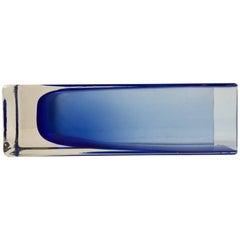 Modernist Glass Vase with Blue Hues, Gunnar Ander for Lindshammar, Sweden, 1960s