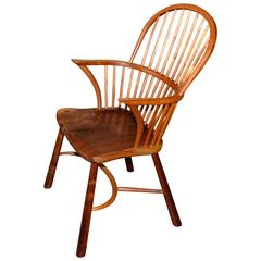 Artisan Craft Made Black Walnut Windsor Chair Monogrammed