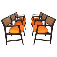 Set of Six Edward Wormley for Dunbar Dining Armchairs