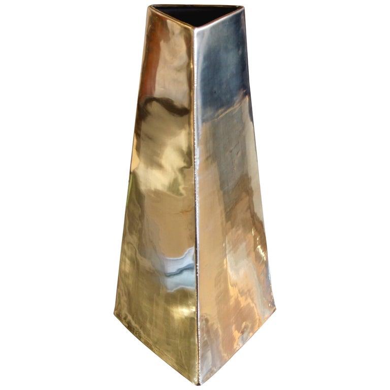 James Johnston Brass Vase For Sale