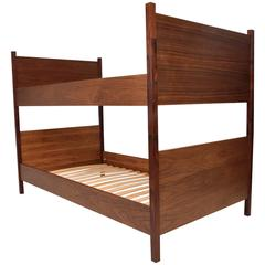 Walnut and Rosewood Bunkbeds Modern