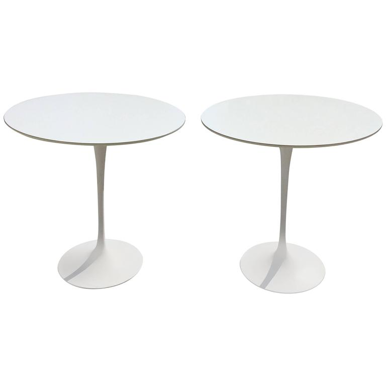 pair of eero saarinen side tables made by knoll for sale