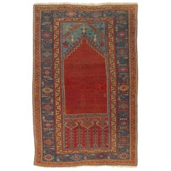 Antique Central Anatolian Ladik Prayer Rug, 18th Century