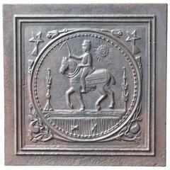 19th Century French 'Horse' Fireback