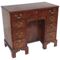 18th Century Mahogany Kneehole Desk