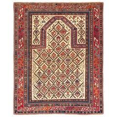 Antique Caucasian Daghestan Prayer Rug