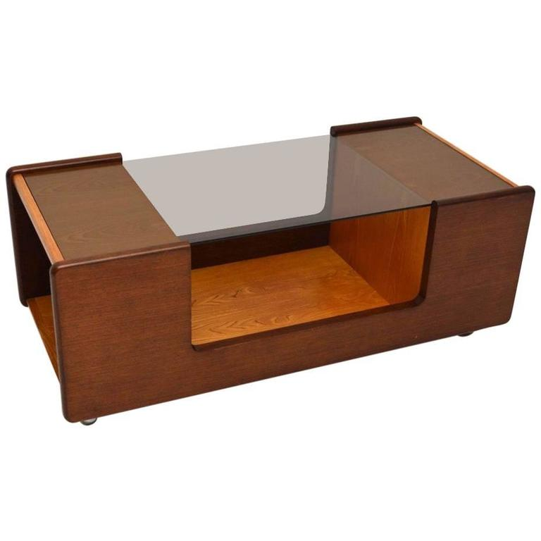 Retro Teak And Glass Coffee Table Vintage 1960s At 1stdibs