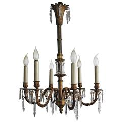 Antique Bronze Chandelier, 19th Century
