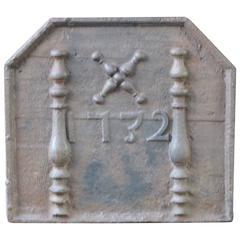 18th Century French 'Pillars with Saint Andrew's Cross' Fireback