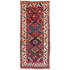 Antique Caucasian Gendje Long Rug