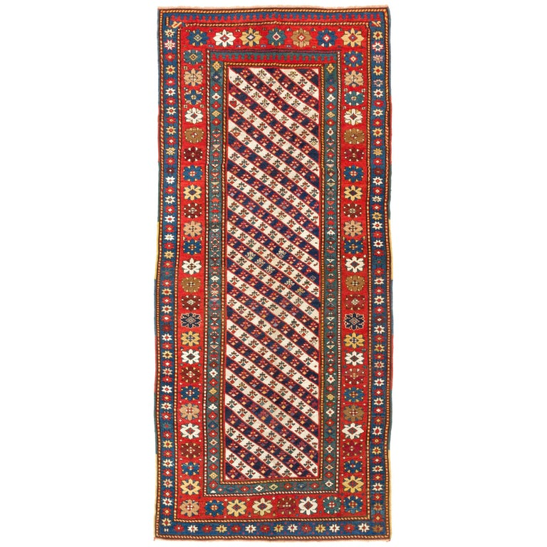 Antique Gendje Long Rug South Caucasus 19th Century For Sale At