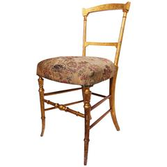 Antique Victorian Hand Painted Paper Mache Chair With