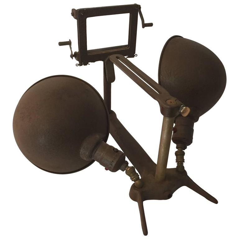 Industrial Double Light Projector Lamp For Sale At 1stdibs