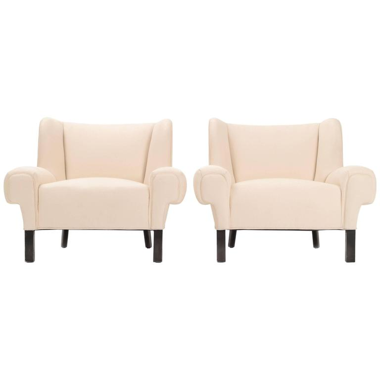Pair of Paul Laszlo Lounge Chairs