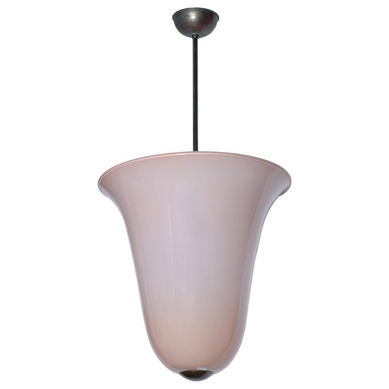 Italian 1930s Blown Murano Glass Lantern by Pauly