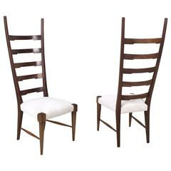 Pair of Beautiful Mahogany Chairs by Paolo Buffa, Italy, 1940s