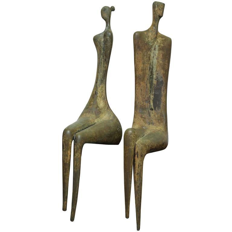 Lifesize Bronze Figures by Aharon Bezalel 1