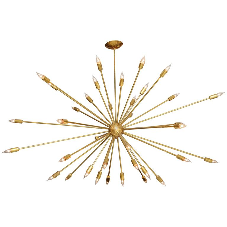 Large Brass Sputnik Light Fixture 1