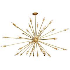 Large Brass Sputnik Light Fixture