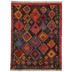 New Contemporary Tulu Shag Area Rug with Tribal Style