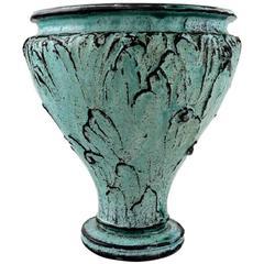 Svend Hammershoi for Kähler, Denmark, Glazed Stoneware Art Pottery Vase, 1930s.