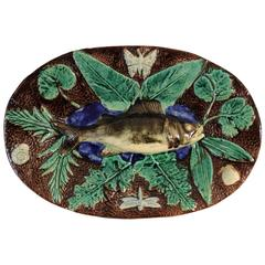 Francois Maurice Majolica Palissy Fish Wall Platter