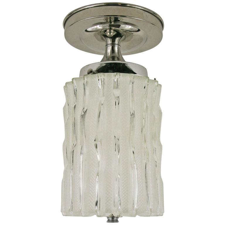 Murano Mid Century Wavey Glass Ceiling Light(5available)