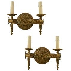 Pair of Italian Bronze Sconces(2 pair available)