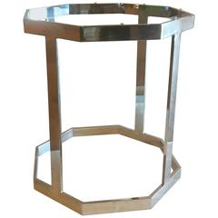 1970s Octagon Polished Chrome Dining Table Base by Milo Baughman