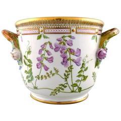 "Royal Copenhagen ""Flora Danica"" Porcelain Large Wine Cooler"